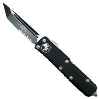 Microtech 233-2 Contoured UTX-85 T/E OTF Auto Knife, Black Combo Blade