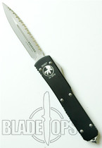 Microtech Ultratech OTF Knife, Bead Blast  F/S, Double Edge, MT122-9