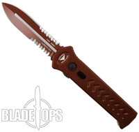 Paragon Blood Line PARA-XD OTF Auto Knife, Red Combo Dagger Blade