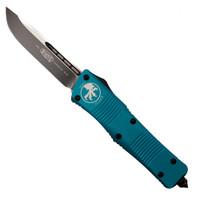 Microtech Turquoise Troodon Single Edge OTF Knife , Plain Black Blade