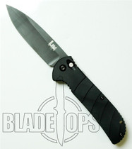 Benchmade H&K 14700BX Auto Knife, Black Plain Edge Blade