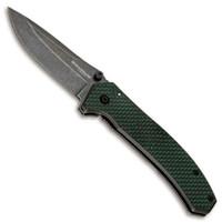 Boker Magnum 01MB637 Green Strike Carbon Fiber/Stainless Steel Folder Knife, Black/Stonewash Blade