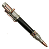Loki Tool Carbon Fiber Steampunk Pen, Antique Pewter