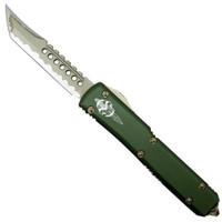 Microtech 119-13KAOD OD Green Katana Contoured Ultratech Hellhound Tanto OTF Auto Knife, Bronze Blade