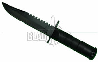 Small Survival Knife, Fixed Blade with Sawback