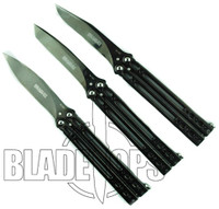 Bradley Kimura Butterfly Knife Set, Limited Polished Black, V, VI, and VII