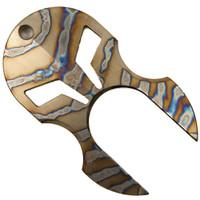 Microtech Custom Leonidas Paperweight, Flamed Titanium