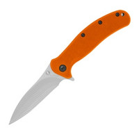 Kershaw Zing Folder Knife, Orange, Plain Edge, KS1735OR