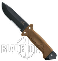 Gerber LMF II Survival, Tan Handle, Black Combo Blade, ASEK