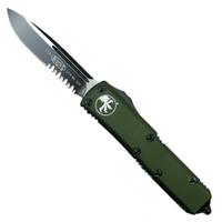 Microtech 231-2OD OD Green Contoured UTX-85 S/E OTF Auto Knife, Black Combo Blade