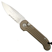 Microtech 135-11TA Tan LUDT Auto Knife, Stonewash Combo Blade