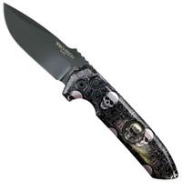 "Pro-Tech ""Vintage Skull"" Rockeye Auto Knife, Shaw Skull, CPM-154 Black Blade"