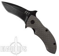 Quartermaster Knives Mr. Furley QSE-4 Frame Lock Knife, Texas Tea