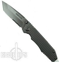 Schrade SCH308S FrameLock Folding Knife, Combo Tanto Blade