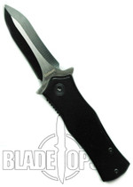 The Roach Spring Assisted Knife, Black Two Tone Blade