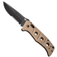 Benchmade 2750SBKSN Sand Adamas Auto Knife, D2 Black Combo Blade