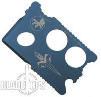 Microtech Assailant Credit Card Knife, Blued Titanium