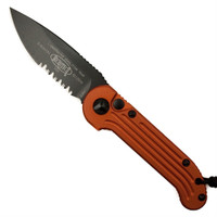 Microtech 135-2OR Orange LUDT Auto Knife, Black Combo Blade