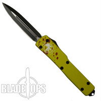 Microtech Zombie Green UTX-70 D/E OTF Auto Knife, Black Blade