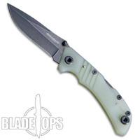 Boker Magnum Medusae Folding Knife, Dark Stonewash Clip Blade
