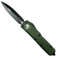 Microtech 232-1OD OD Green Contoured UTX-85 D/E OTF Auto Knife, Black Blade