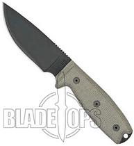 Ontario Rat 3 Fixed Blade Knife, Black Sheath