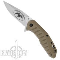 Kershaw Duck Commander Bisland Assist Knife, Bead Blast Clip Blade