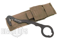 Benchmade 8 Hook/ Safety Cutter, Coyote Soft Sheath, 8BLKWSN