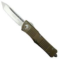 Microtech 144-4TA Tan Combat Troodon T/E OTF Auto Knife, Satin Blade
