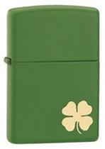 Zippo Green Shamrock Lighter, Zippo 21032