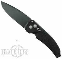 "Hogue Knives EX03 Auto Knife, Black Drop Point 4"" Blade"