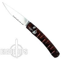 Piranha Red Virus Auto Knife, CPM-S30V Mirror Combo Blade