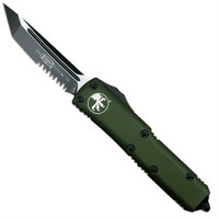 Microtech 233-2OD OD Green UTX-85 T/E OTF Auto Knife, Black Combo Blade