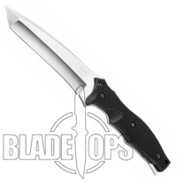 SOG Vulcan Fixed Blade Knife, Satin Finish, Leather Sheath, VL50