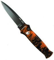 Piranha Orange Bodyguard Auto Knife, CPM-S30V Black Blade