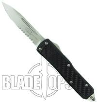 Microtech Daytona D/A OTF Knife, Bead Blast Part Serrated Edge, MT146-8