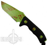 Microtech 102-1Z Currahee S/E Fixed Blade Knife, Zombie Green Blade