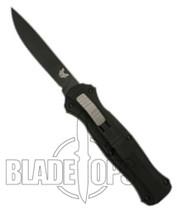 Benchmade 3310BK Infidel OTF Knife, Black Single Edge Plain Blade