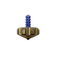 Marfione Custom Knives Brass Mini Spin Top, Purple Titanium Stem