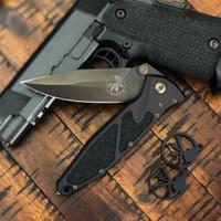 Microtech 160-1DLCS Signature Series Socom Elite S/E Folder Knife, DLC Black Blade