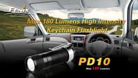 Fenix PD10 R2 Black LED Flashlight, 190 Lumens