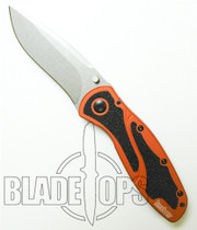 Kershaw Burnt Orange Blur Spring Assisted Knife by Ken Onion, Plain Edge, Limited Edition, KS1670BOR
