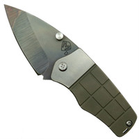 Medford Knife & Tool MK36DV-02AN Bronze Sherman Tumbled Titanium Folder Knife, D2 Vulcan Blade