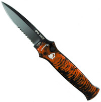 Piranha Orange Bodyguard Auto Knife, CPM-S30V Black Combo Blade