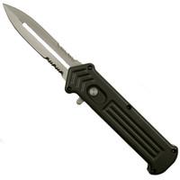 Joker's Wild Grey Cupid Clone OTF Auto Knife, Bead Blast Combo Blade