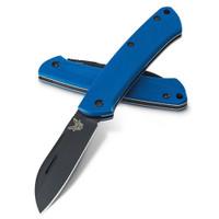 Benchmade Limited 319DLC-1801 Blue Proper Non-Locking Folder Knife, CPM-S30V Black Blade