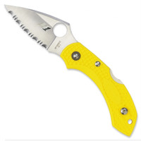 Spyderco Dragonfly2 Salt Knife, SpyderEdge Blade, FRN Yellow Handle, C28SYL2