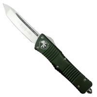Microtech 144-4OD OD Green Combat Troodon T/E OTF Auto Knife, Satin Blade
