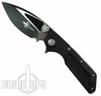 Microtech Custom DOC Flipper Knife, TwoTone Black Blade