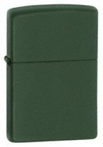 Zippo Green Matte Lighter, Zippo 221